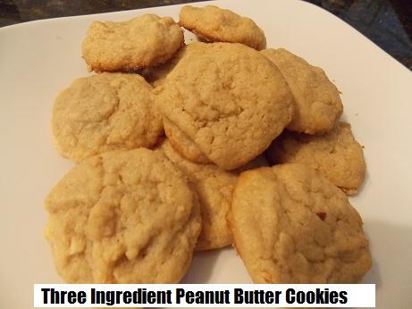 three ingredient peanut btter cookies