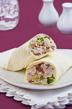 healthy sample menu forchicken wraps