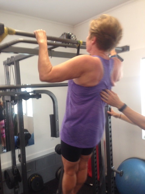 Beverly's Pull-Up at 68 years old
