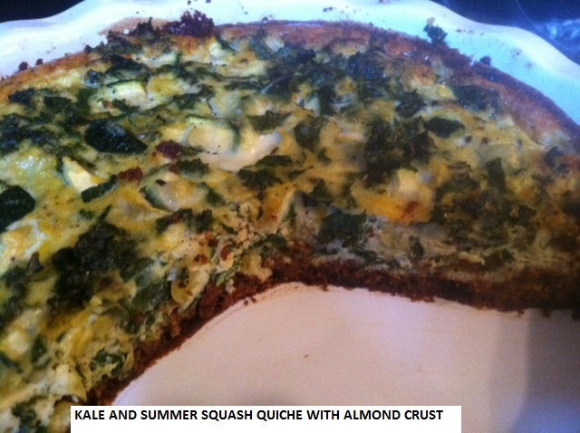 kale and summer squash quiche